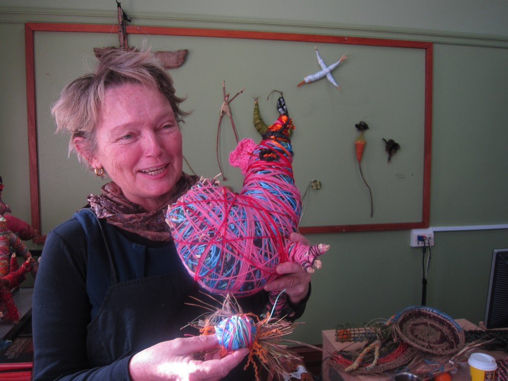 Work produced at Fibre with a Twist! Sturt Winter School Mittagong. by Adrienne Kneebone