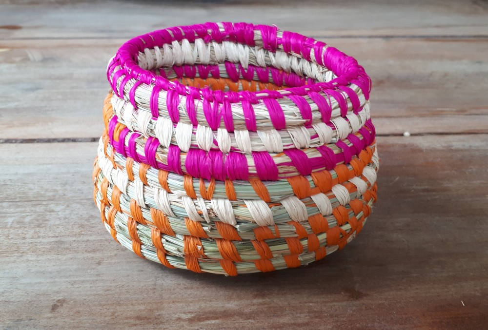 Poa Grass Coil Basket by Adrienne Kneebone